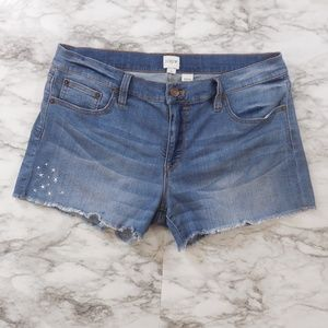 j. Crew | Denim Shorts with Embroidered Stars